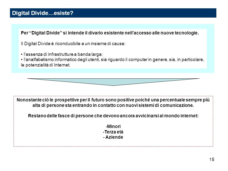 15 Digital Divide…esiste.