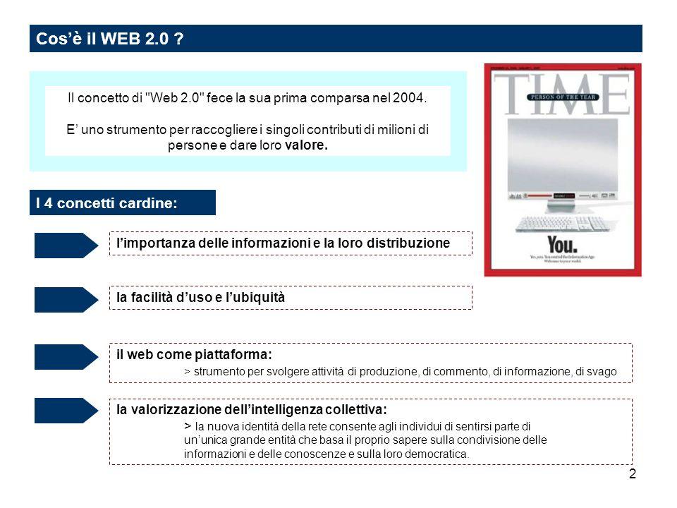 2 Cosè il WEB 2.0 ? Il concetto di