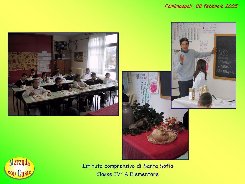 Istituto comprensivo di Santa Sofia Classe IV° A Elementare Forlimpopoli, 28 febbraio 2005