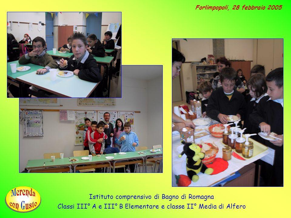 Istituto comprensivo di Bagno di Romagna Classi III° A e III° B Elementare e classe II° Media di Alfero Forlimpopoli, 28 febbraio 2005