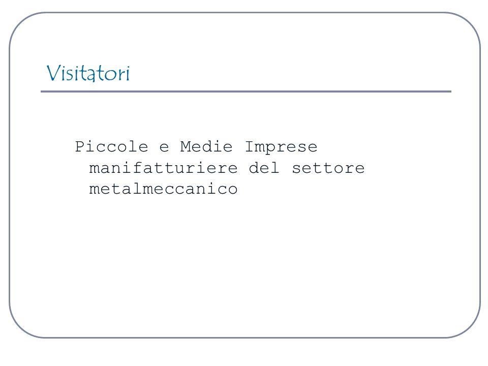 Visitatori Piccole e Medie Imprese manifatturiere del settore metalmeccanico