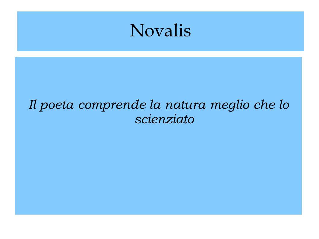 Novalis Il poeta comprende la natura meglio che lo scienziato