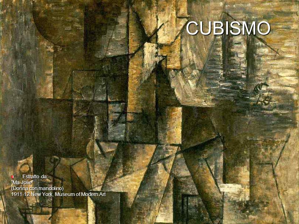 CUBISMO CUBISMO Estratto da: Ma Jolie (Donna con mandolino) 1911-12 New York, Museum of Modern Art