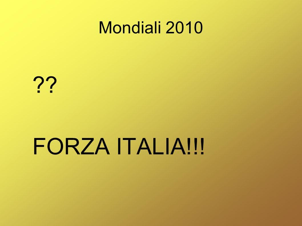 Mondiali 2010 ?? FORZA ITALIA!!!