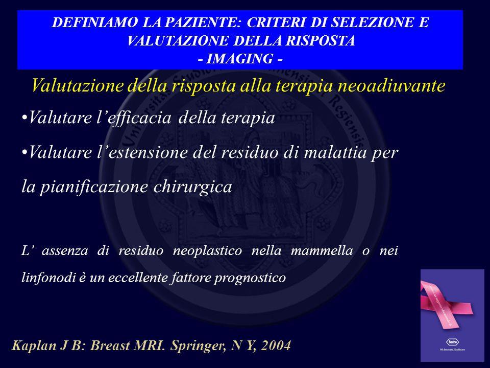 RM Correlazione RM – istopatologia: 83% Le Petross et al.Magn Reson Imaging Clin N Am 2010 Londero V.