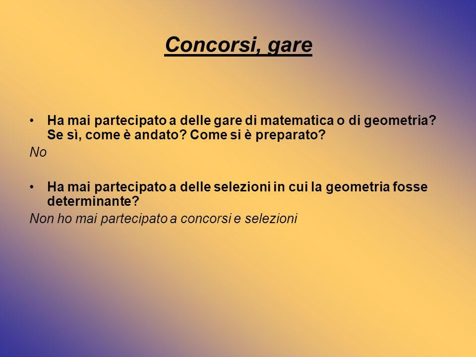 Geometria e società Qual è, secondo lei, il ruolo della geometria nella società moderna.
