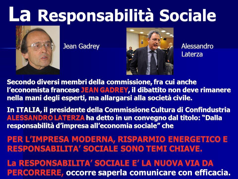 Secondo diversi membri della commissione, fra cui anche leconomista francese JEAN GADREY, il dibattito non deve rimanere nella mani degli esperti, ma