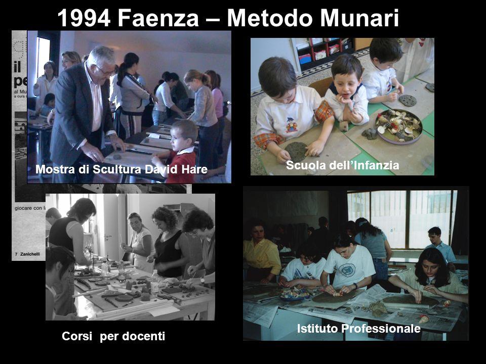 1994 Faenza – Metodo Munari Scuola dellInfanzia Istituto Professionale Mostra di Scultura David Hare Corsi per docenti