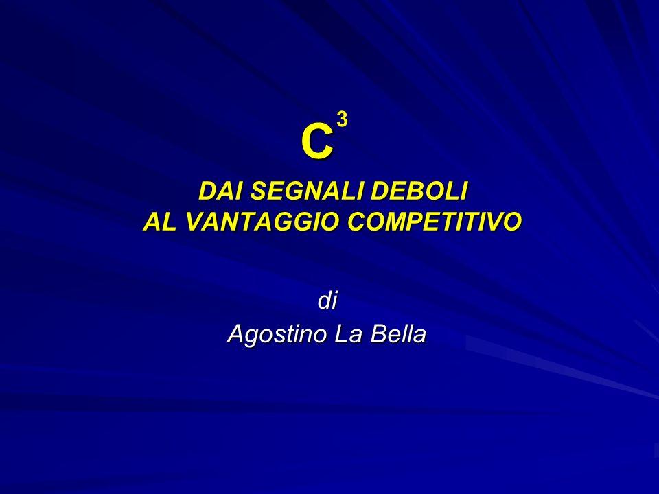DAI SEGNALI DEBOLI AL VANTAGGIO COMPETITIVO di Agostino La Bella C 3