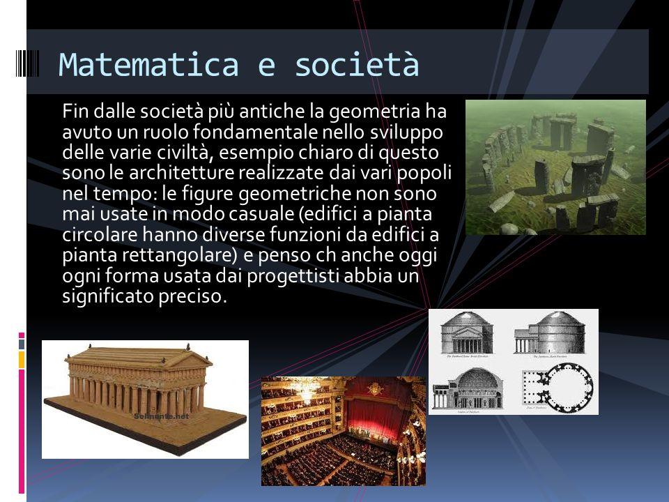 Fin dalle società più antiche la geometria ha avuto un ruolo fondamentale nello sviluppo delle varie civiltà, esempio chiaro di questo sono le archite