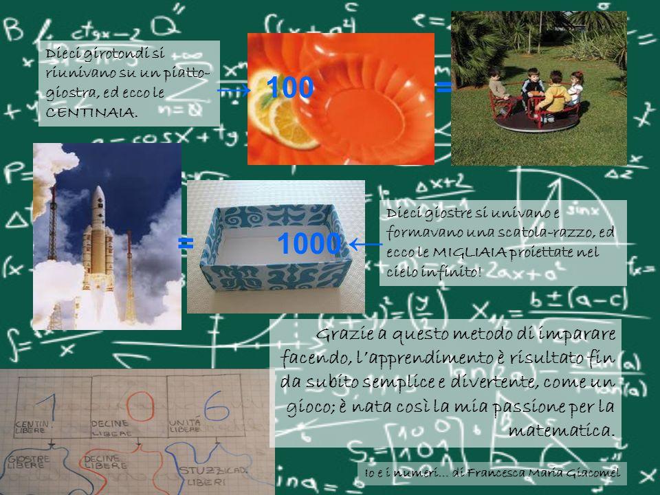 Io e i numeri… di Francesca Maria Giacomel Negli anni successivi con la maestra Maria Teresa abbiamo imparato cose sempre nuove: le tabelline, le divisioni e le moltiplicazioni a più cifre e con i decimali, la geometria piana e solida.