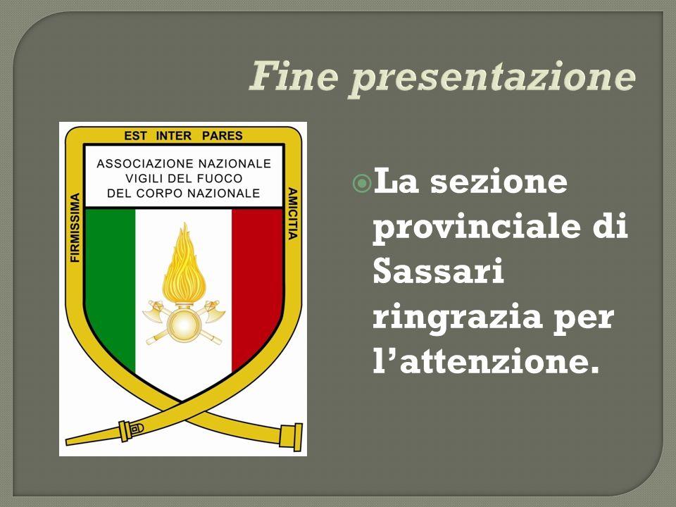 La sezione provinciale di Sassari ringrazia per lattenzione.