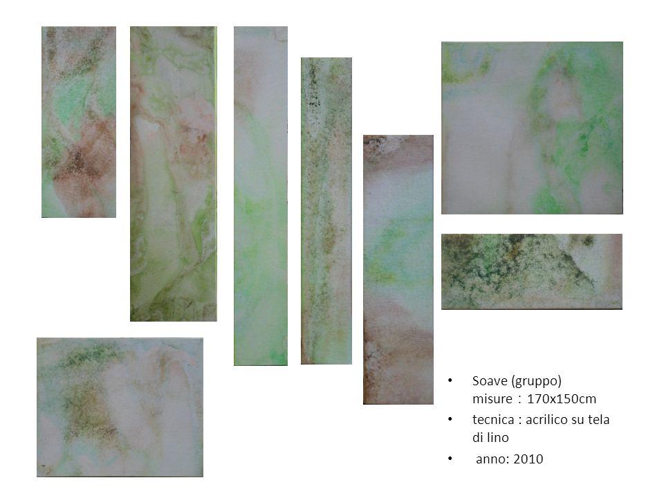 Soave (gruppo) misure 170x150cm tecnica : acrilico su tela di lino anno: 2010
