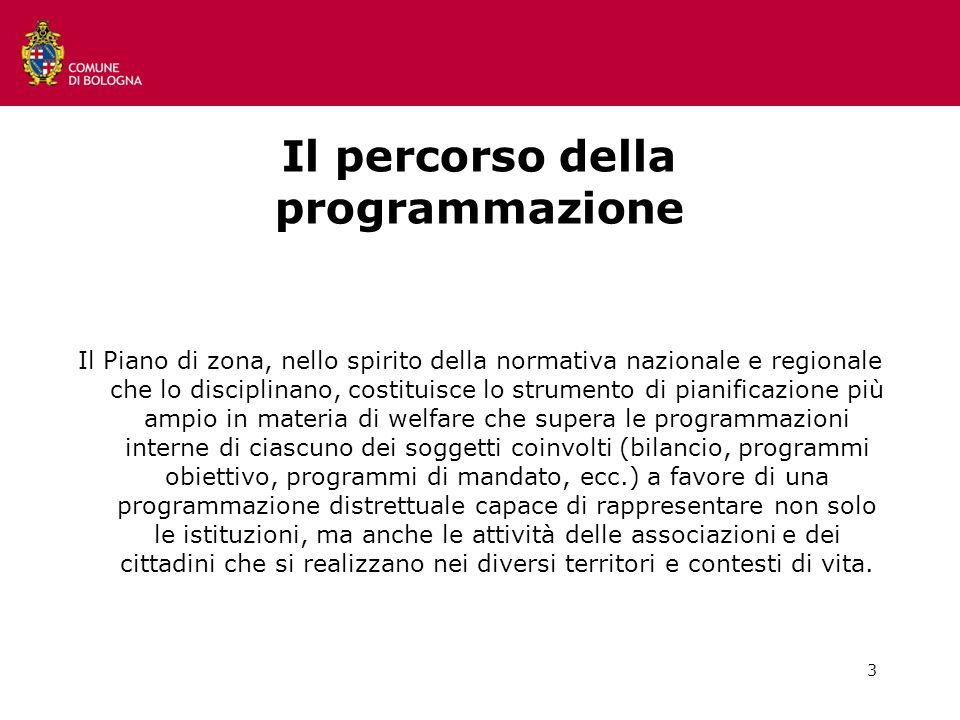 3 Il percorso della programmazione Il Piano di zona, nello spirito della normativa nazionale e regionale che lo disciplinano, costituisce lo strumento