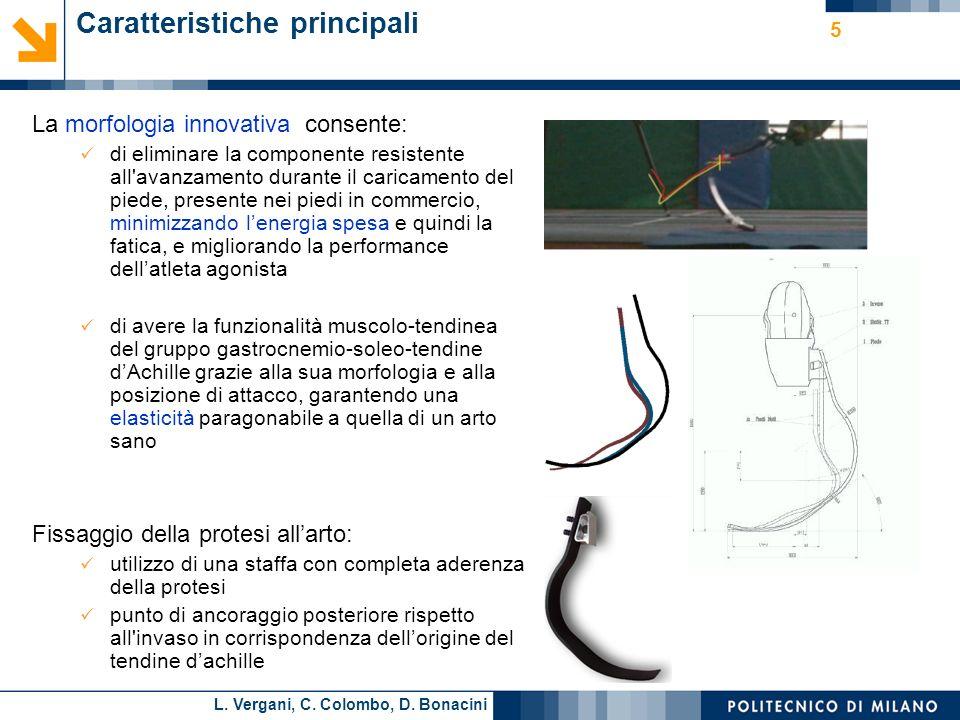 L. Vergani, C. Colombo, D. Bonacini Caratteristiche principali La morfologia innovativa consente: di eliminare la componente resistente all'avanzament