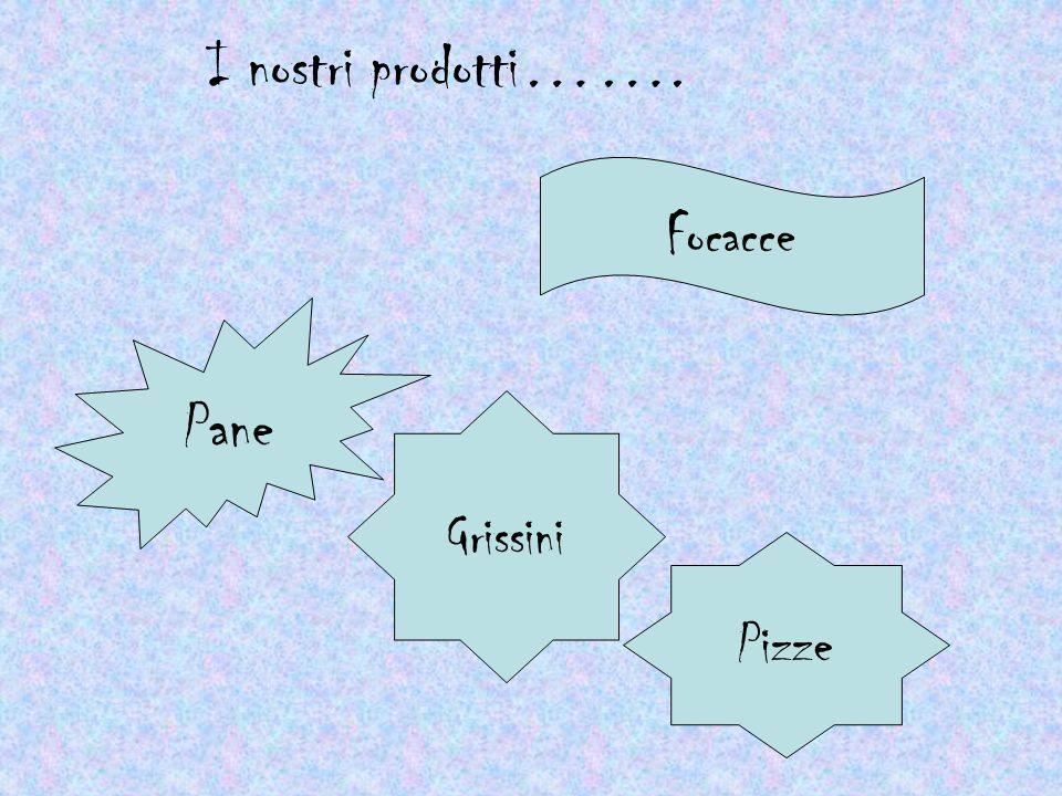 I nostri prodotti……. Pane Grissini Pizze Focacce