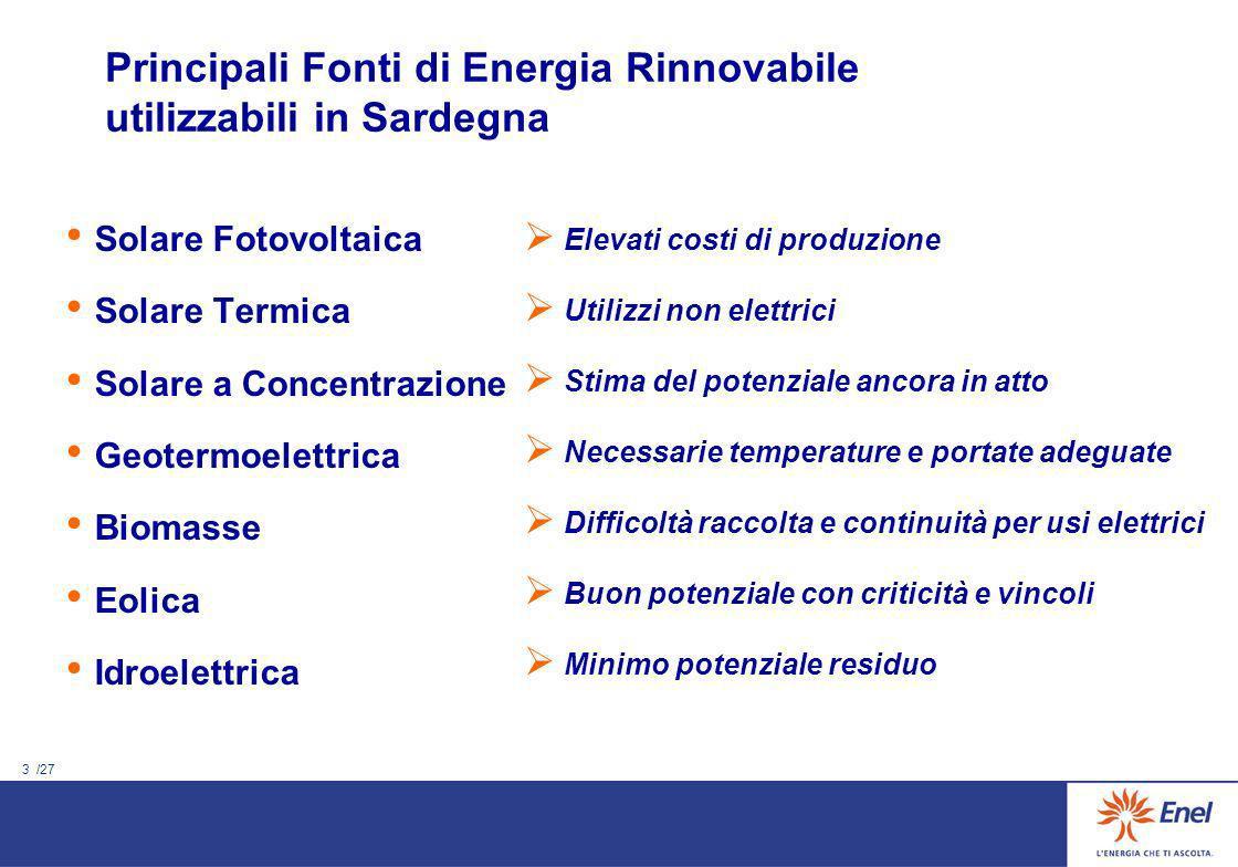 2 /27 Compensazione della CO2: le dimensioni del problema (1) Italia CO2 178.000.000 t Sardegna 9.714.000 t 356.000.000 ettari (12 volte il territorio