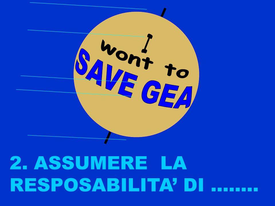 Si, io voglio salvare GEA 1. AFFERMARE........