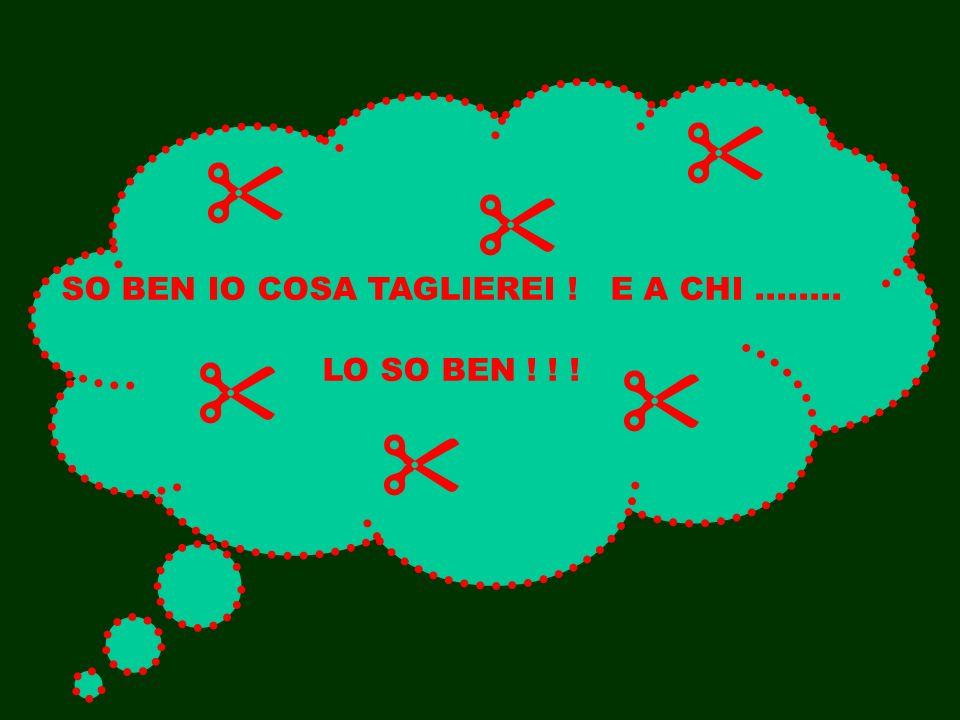 SO BEN IO COSA TAGLIEREI ! E A CHI........ LO SO BEN ! ! !