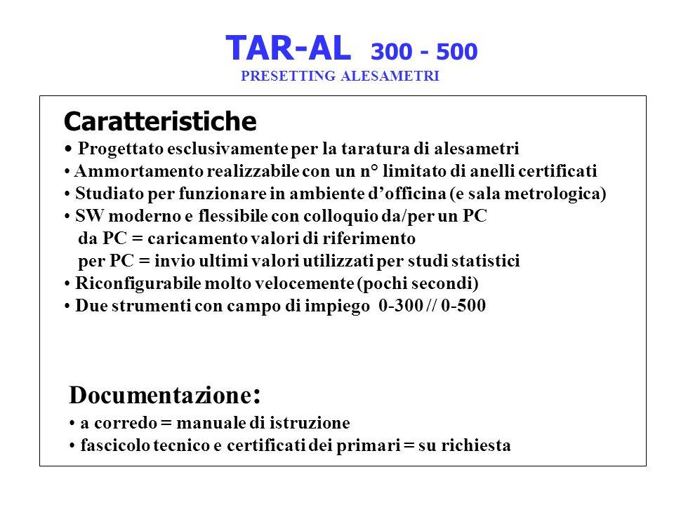 Documentazione : a corredo = manuale di istruzione fascicolo tecnico e certificati dei primari = su richiesta Caratteristiche Progettato esclusivament
