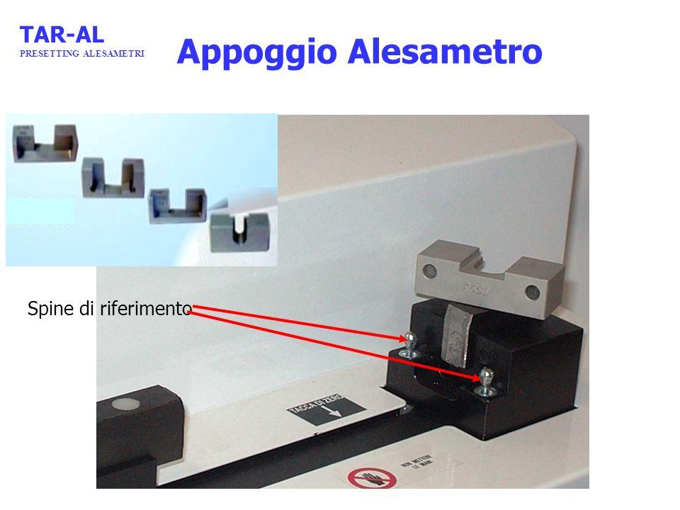 Appoggio Alesametro Spine di riferimento TAR-AL PRESETTING ALESAMETRI