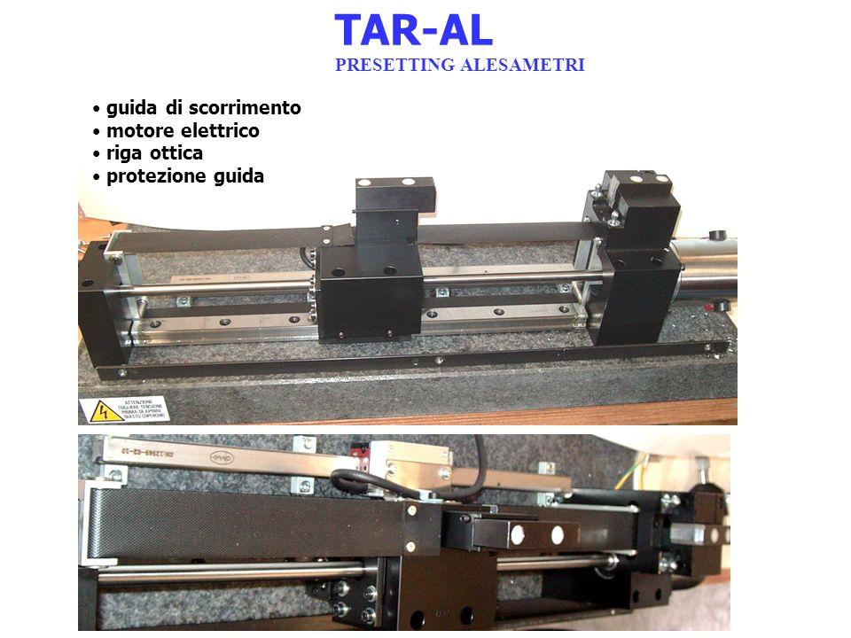 TAR-AL PRESETTING ALESAMETRI guida di scorrimento motore elettrico riga ottica protezione guida