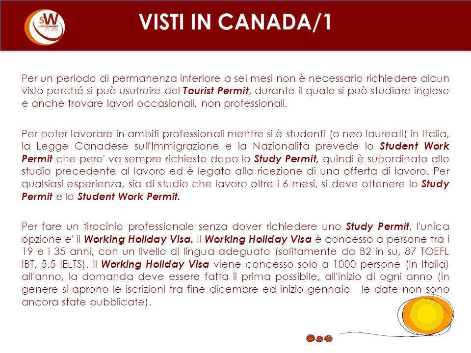 Per un periodo di permanenza inferiore a sei mesi non è necessario richiedere alcun visto perché si può usufruire del Tourist Permit, durante il quale