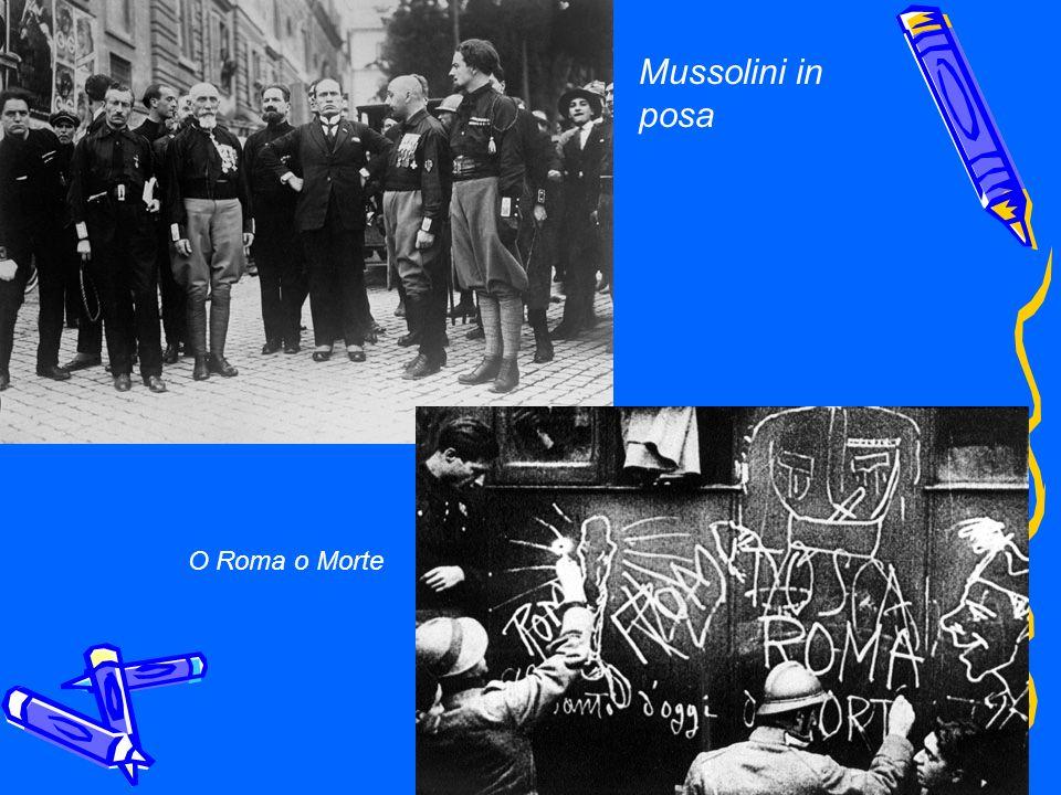Mussolini in posa O Roma o Morte