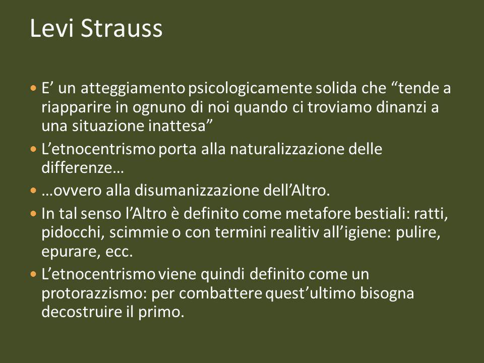 Levi Strauss E un atteggiamento psicologicamente solida che tende a riapparire in ognuno di noi quando ci troviamo dinanzi a una situazione inattesa L
