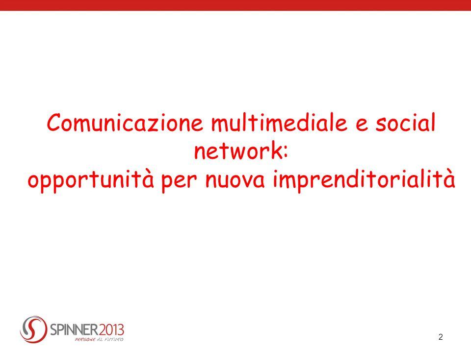 2 Comunicazione multimediale e social network: opportunità per nuova imprenditorialità