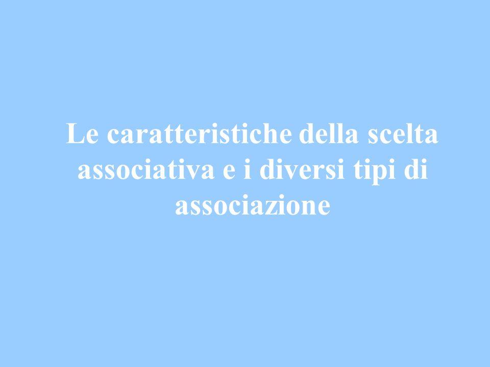 Possibili forme associative (3) Organizzazioni non governative (L.
