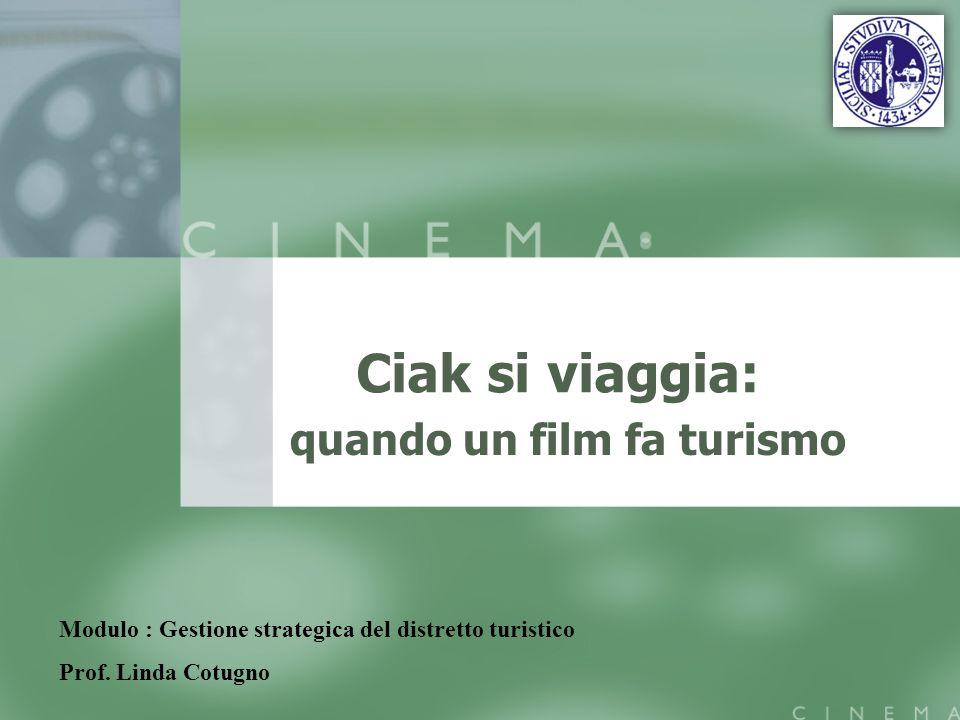 Ciak si viaggia: quando un film fa turismo Modulo : Gestione strategica del distretto turistico Prof.