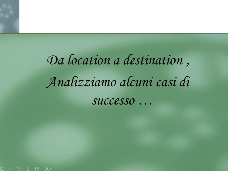 Da location a destination, Analizziamo alcuni casi di successo …