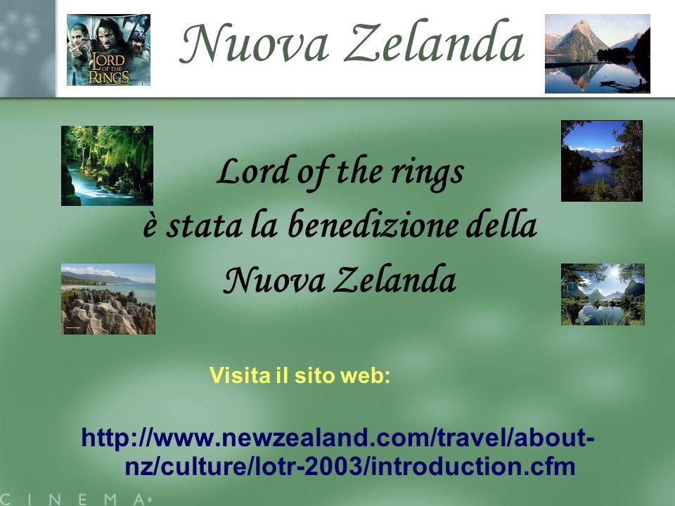 Nuova Zelanda Lord of the rings è stata la benedizione della Nuova Zelanda Visita il sito web: http://www.newzealand.com/travel/about- nz/culture/lotr-2003/introduction.cfm
