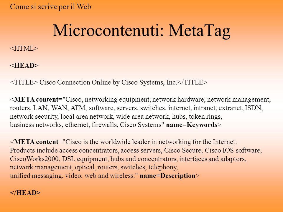 Pagine che si fanno trovare Motori di ricerca Scrivere per i motori di ricerca Limportanza dei microcontenuti Come si scrive per il Web