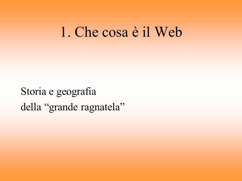 Argomenti 1. Che cosa è il Web Storia e geografia della grande ragnatela 2. Come si scrive per il Web Perché la scrittura online è diversa 3. Come div