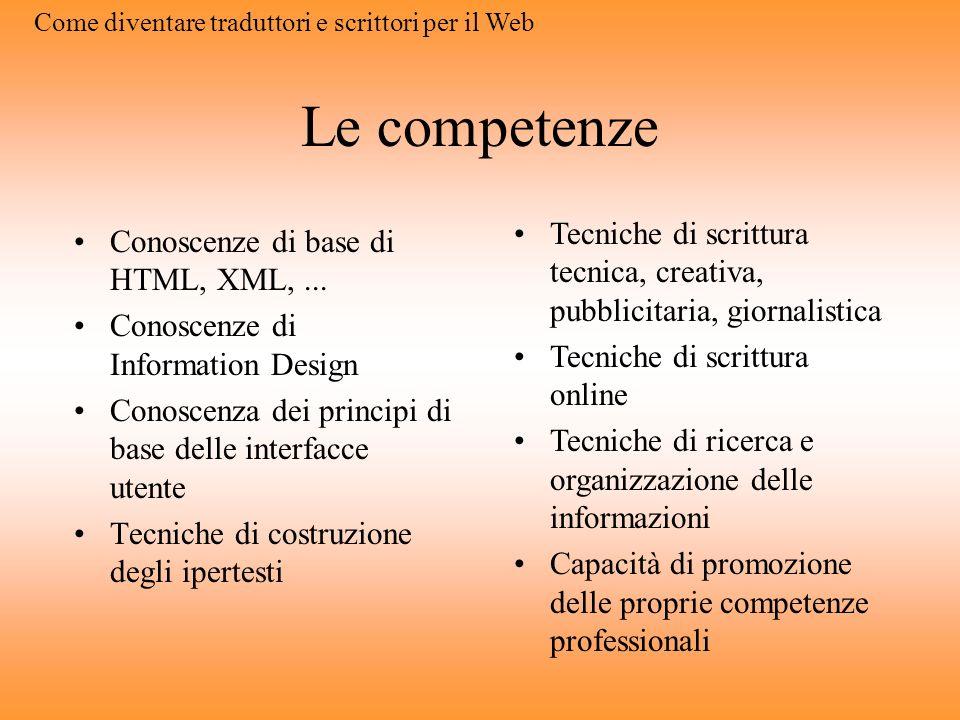 Trados TagEditor Costoso Completo Si integra con il Workbench Gestione di siti Web complessi Non WYSIWYG Codice ben distinto Come diventare traduttori