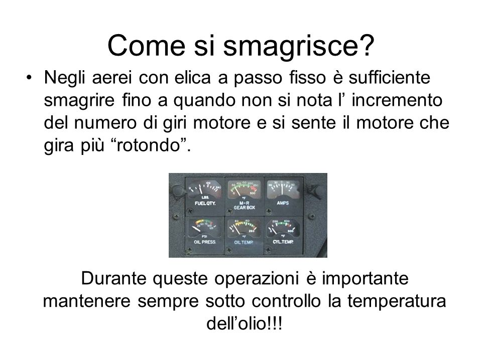 Come si smagrisce.
