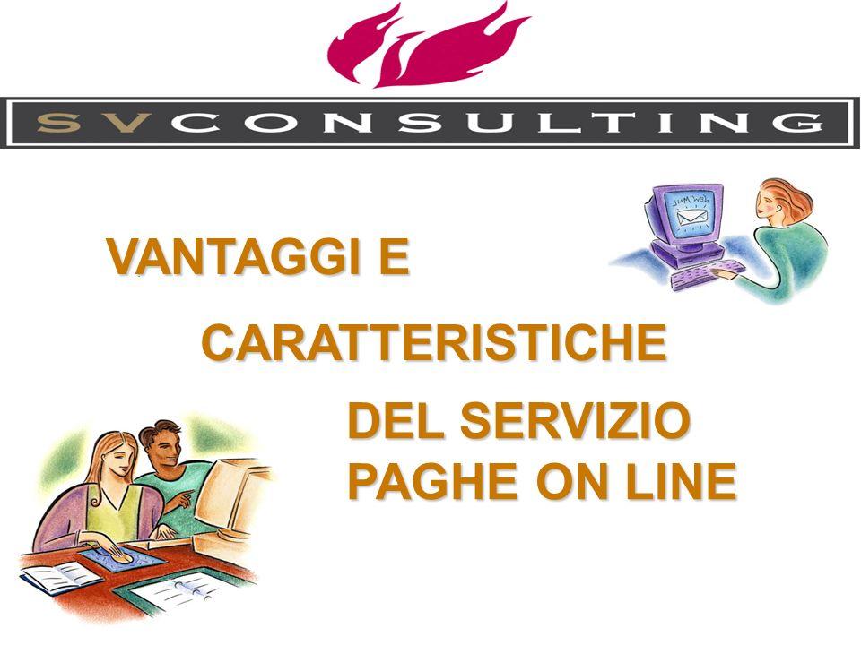 . VANTAGGI E CARATTERISTICHE DEL SERVIZIO PAGHE ON LINE