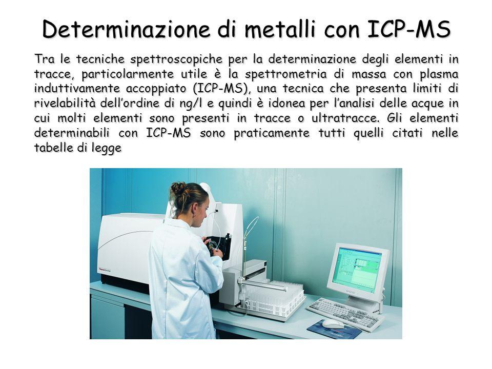 Tra le tecniche spettroscopiche per la determinazione degli elementi in tracce, particolarmente utile è la spettrometria di massa con plasma induttiva