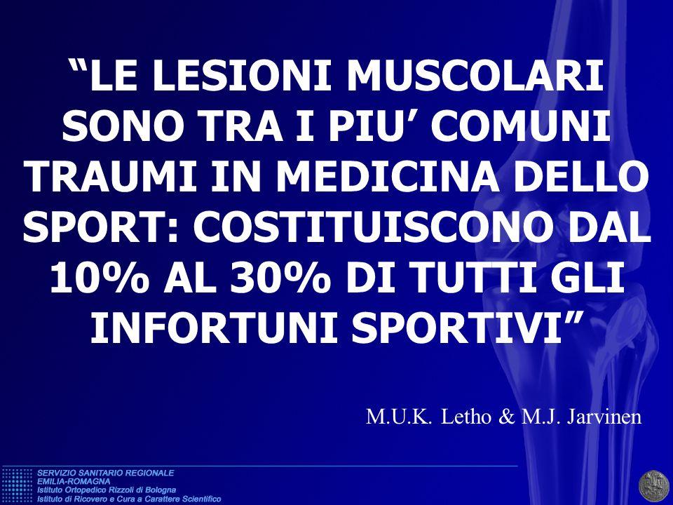 LESIONI MUSCOLARI DA TRAUMA INDIRETTO (muscoli più frequentemente interessati N=306 ) RETTO FEMORALE34% C.L.