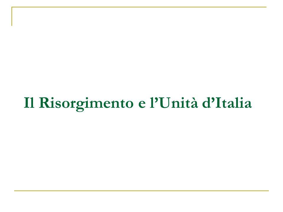 Il Risorgimento e lUnità dItalia