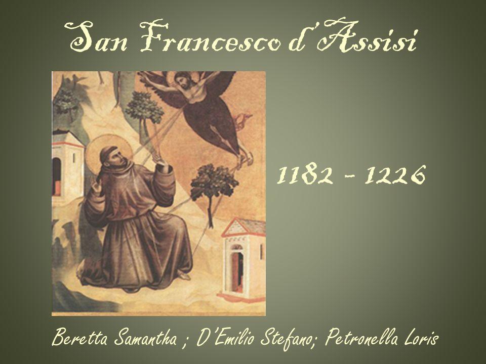 San Francesco : I primi anni di vita La conversione Lordine dei francescani Cantico delle creature Ultimi anni di vita Collegamenti esterni