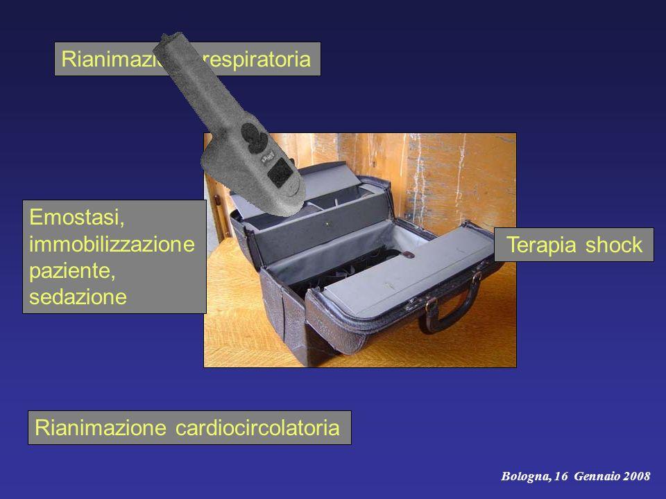 Rianimazione cardiocircolatoria Bologna, 16 Gennaio 2008