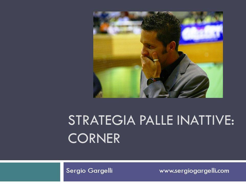 STRATEGIA PALLE INATTIVE: CORNER Sergio Gargelli www.sergiogargelli.com
