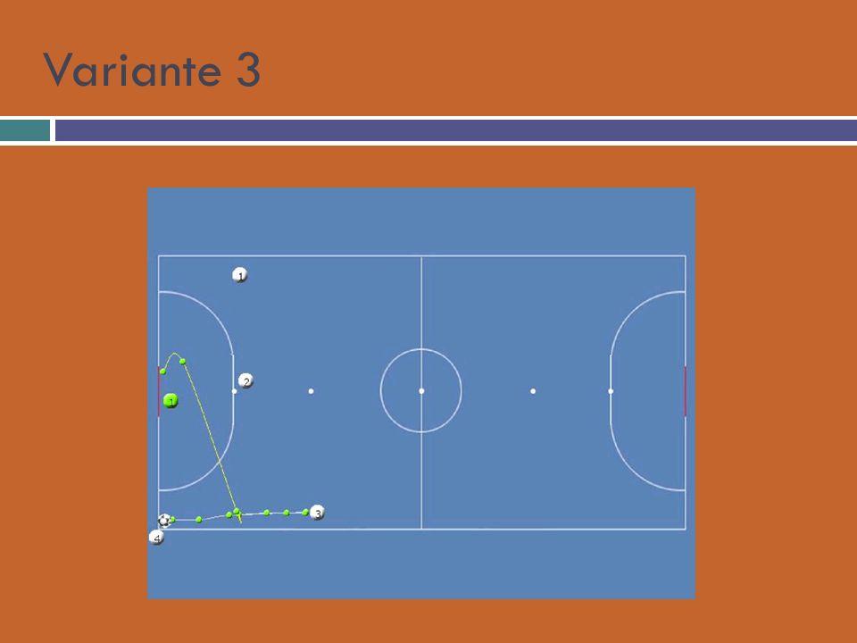 Palla fuori per 3 che stoppa il pallone, 2 si avvicina a 3 per andare a calciare, 4 dopo aver battuto va velocemente verso il 2° palo, 1 torna verso il centro per fare copertura.