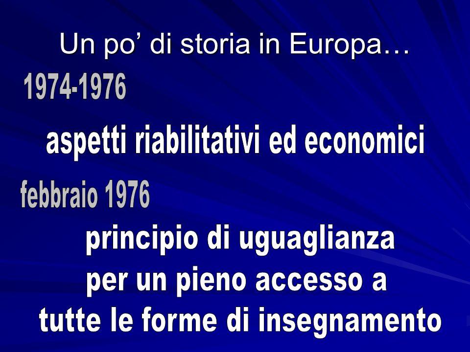 Un po di storia in Europa…