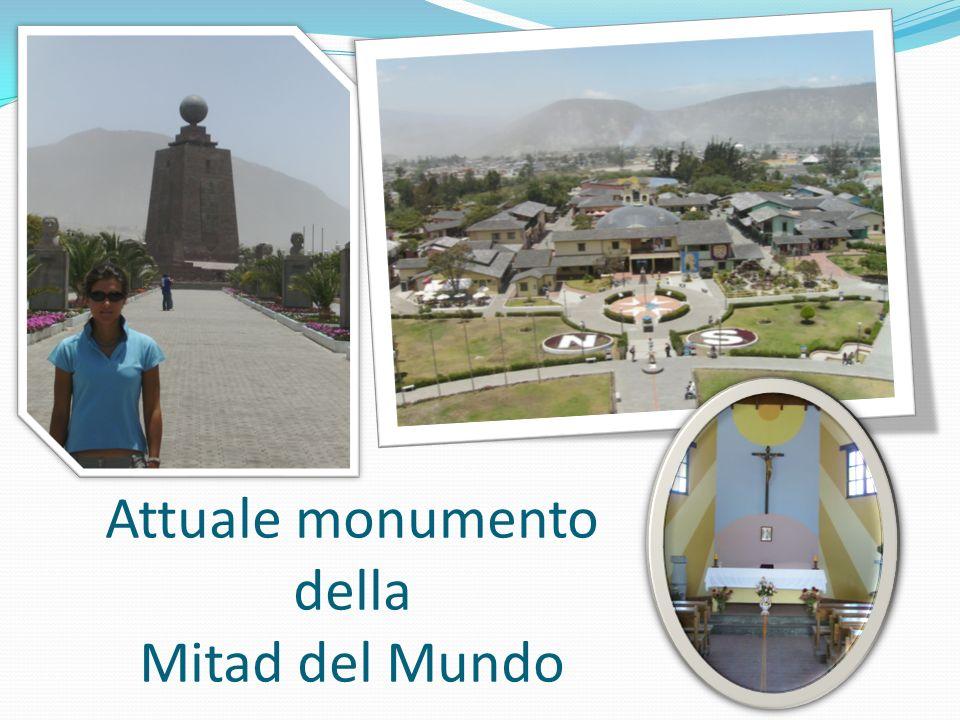 Attuale monumento della Mitad del Mundo