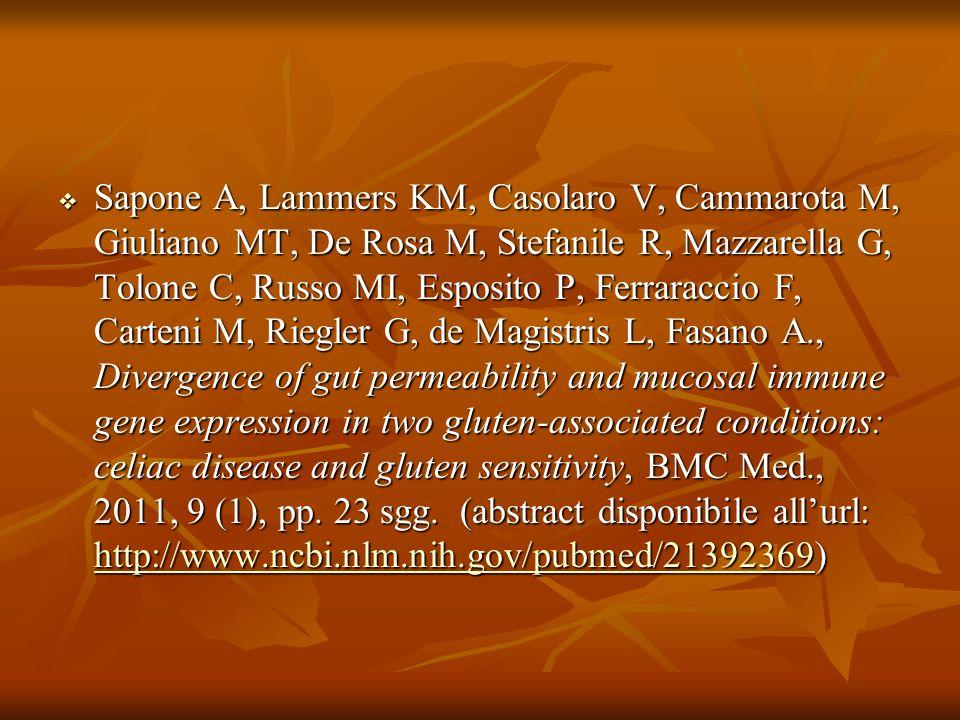 Tommasini, A., Neri, E., Zamuner, E., Torre, G., Tonini, G., Not, T., Ventura, A.
