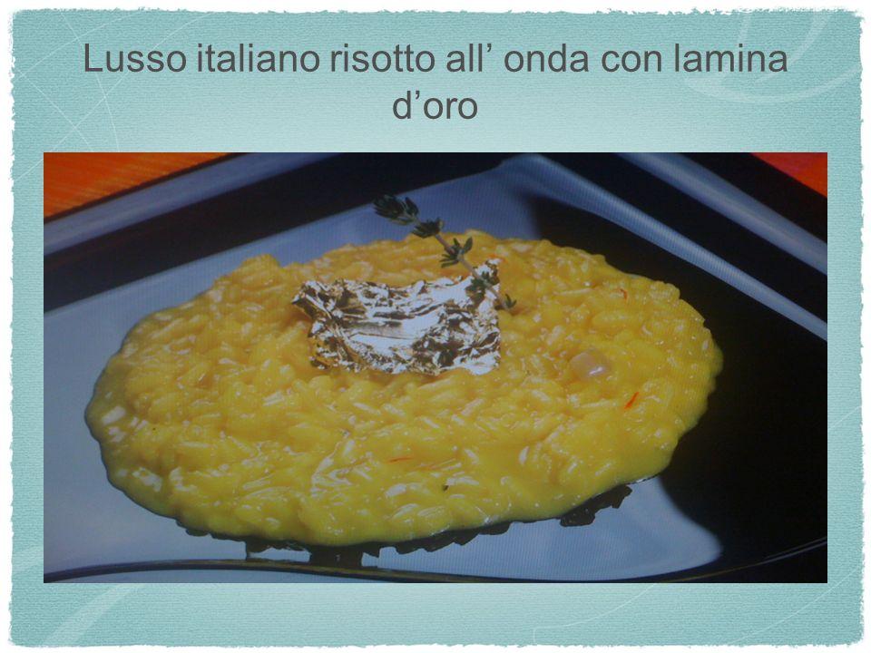Lusso italiano risotto all onda con lamina doro